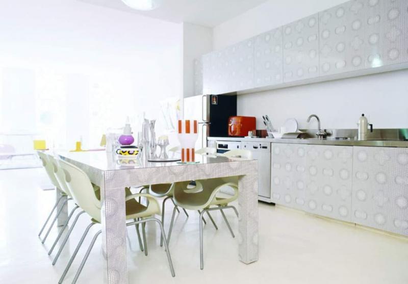 кухонные обои белая гамма 3 1