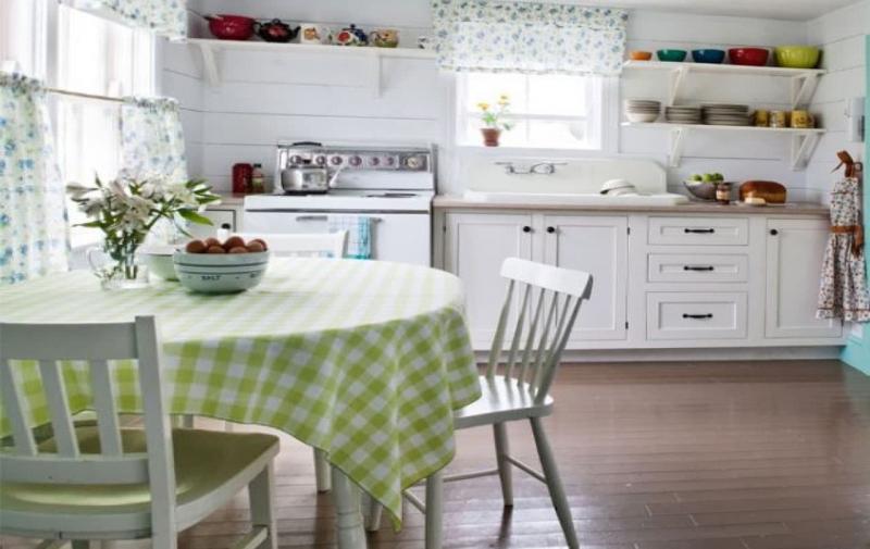 кухонные обои белая гамма 5