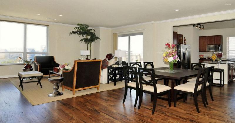 кухонные обои для кухни-студии 4