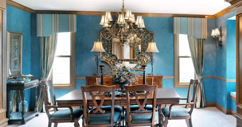 кухонные обои голубая гамма 10