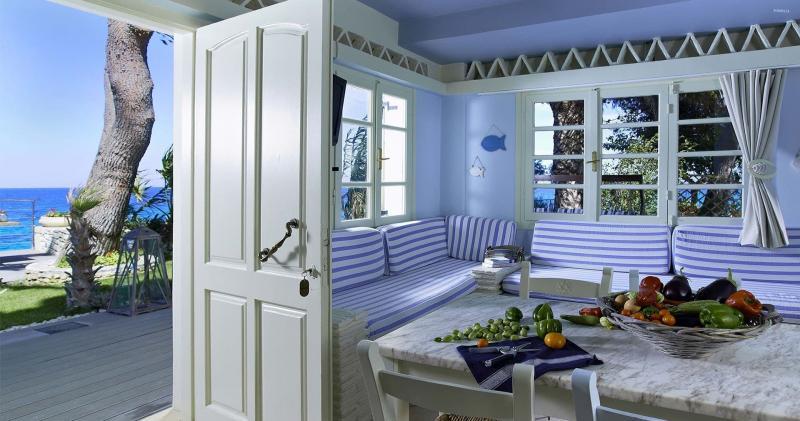 кухонные обои голубая гамма 5