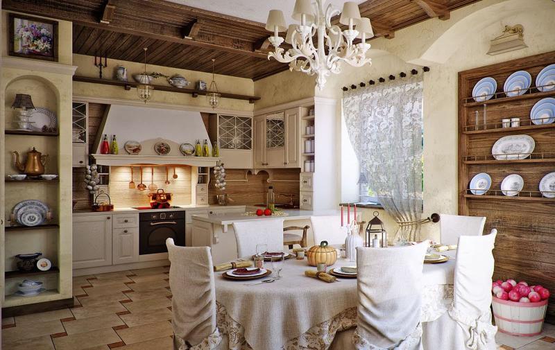 кухонные обои кантри 11