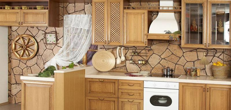 кухонные обои кантри 7
