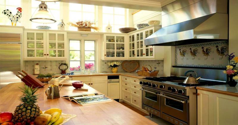 кухонные обои кантри 8