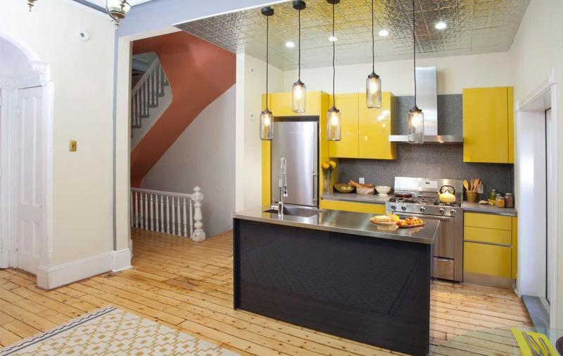 кухонные обои лофт 5