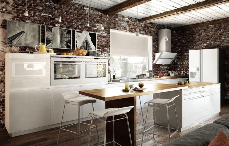 кухонные обои лофт 7
