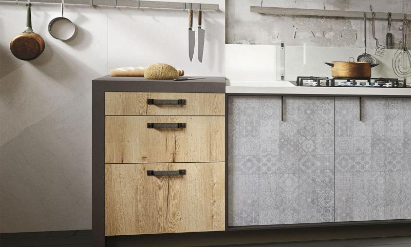 кухонные обои лофт 8