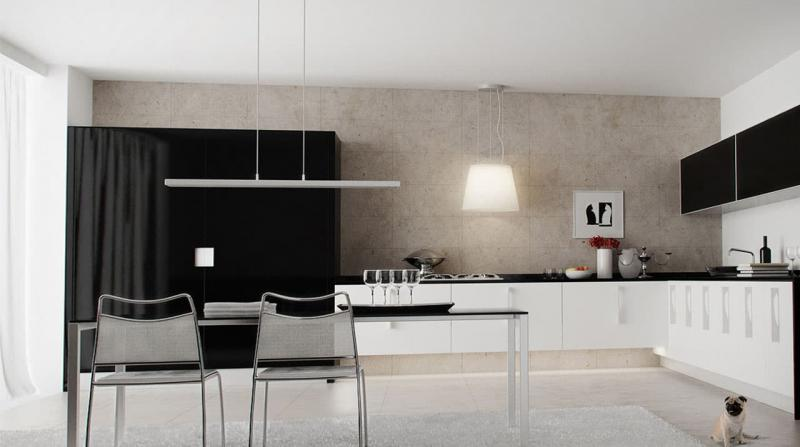 кухонные обои минимализм 11
