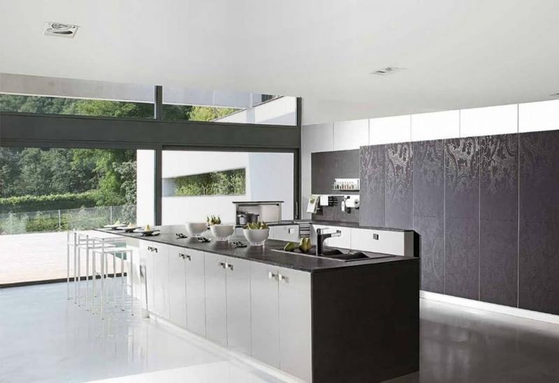 кухонные обои минимализм 13