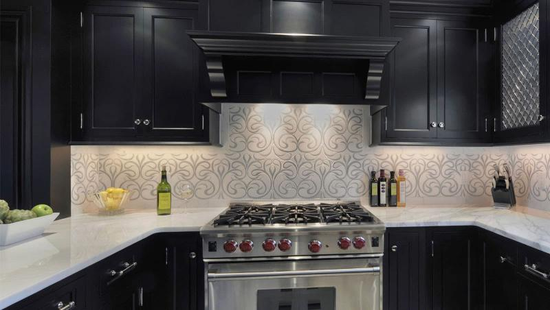 кухонные обои минимализм 15