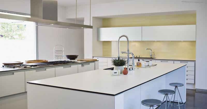 кухонные обои минимализм 2