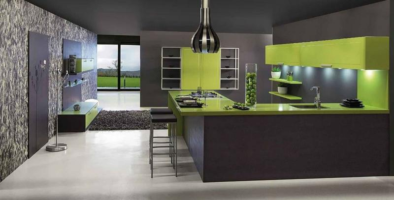 кухонные обои модерн 4