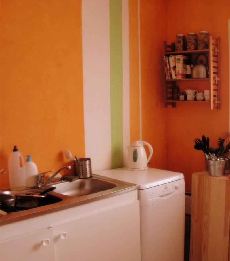 кухонные обои оранжевая гамма 13
