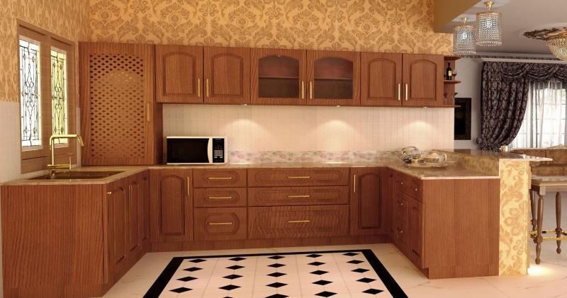 кухонные обои оранжевая гамма 8