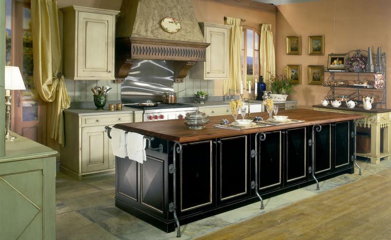 Дизайн обоев для кухни в стиле прованс