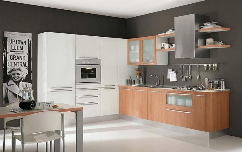 кухонные обои серая гамма 10