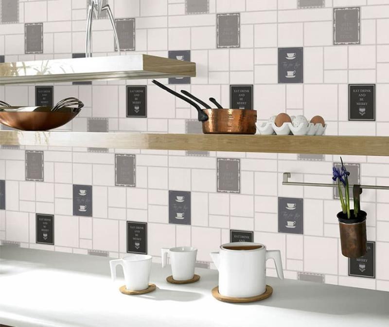 кухонные обои серая гамма 9