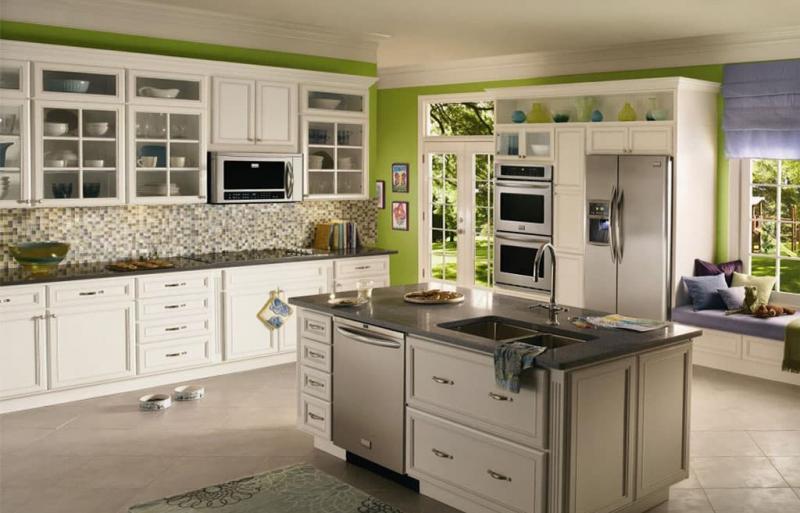 кухонные обои зеленая гамма 10 1
