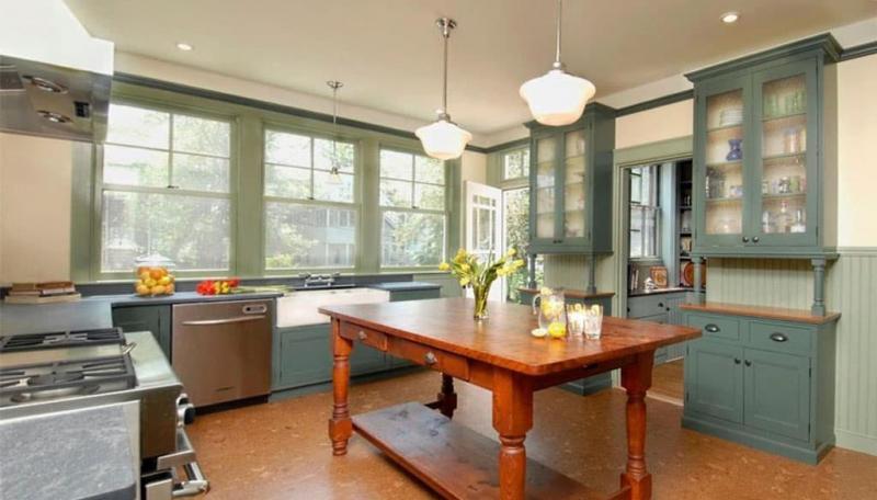 кухонные обои зеленая гамма 11 1