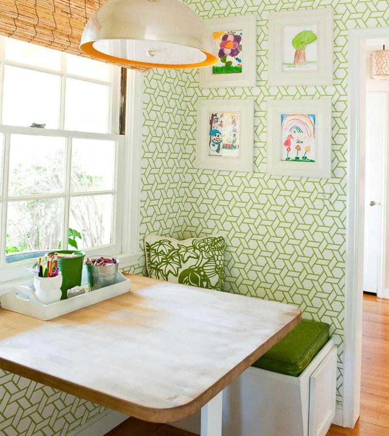 кухонные обои зеленая гамма 2