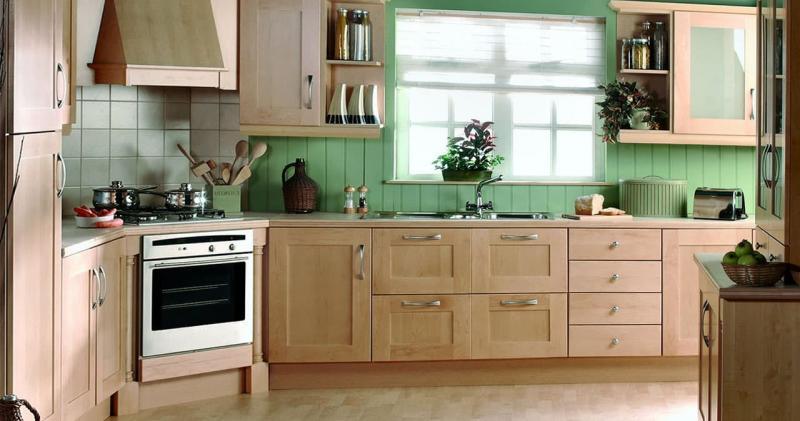 кухонные обои зеленая гамма 5