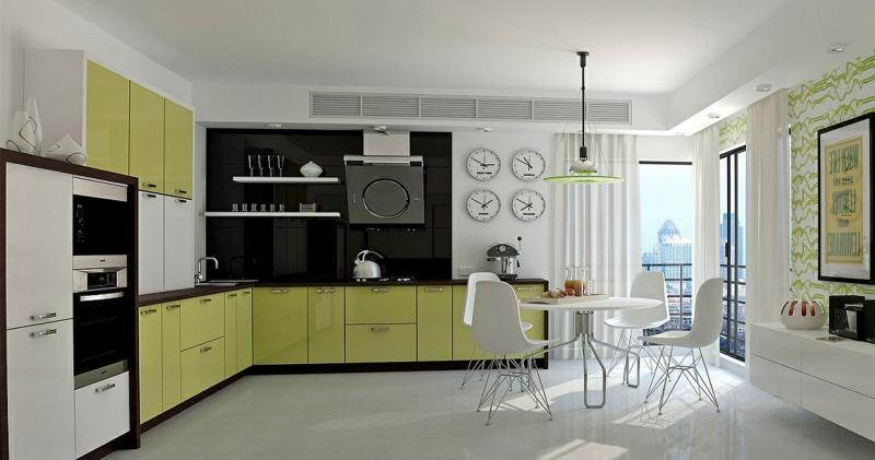 кухонные обои зеленая гамма 9