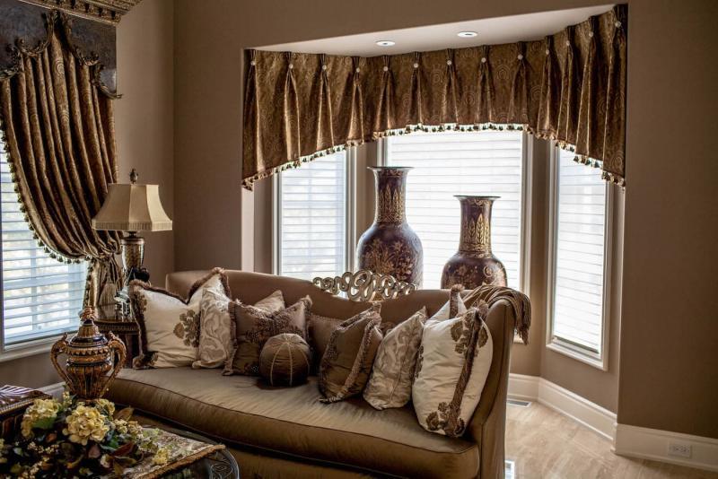 Короткие шторы для гостиной 1
