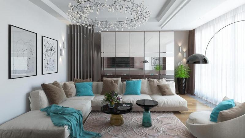 Шторы для гостиной в современном стиле 2