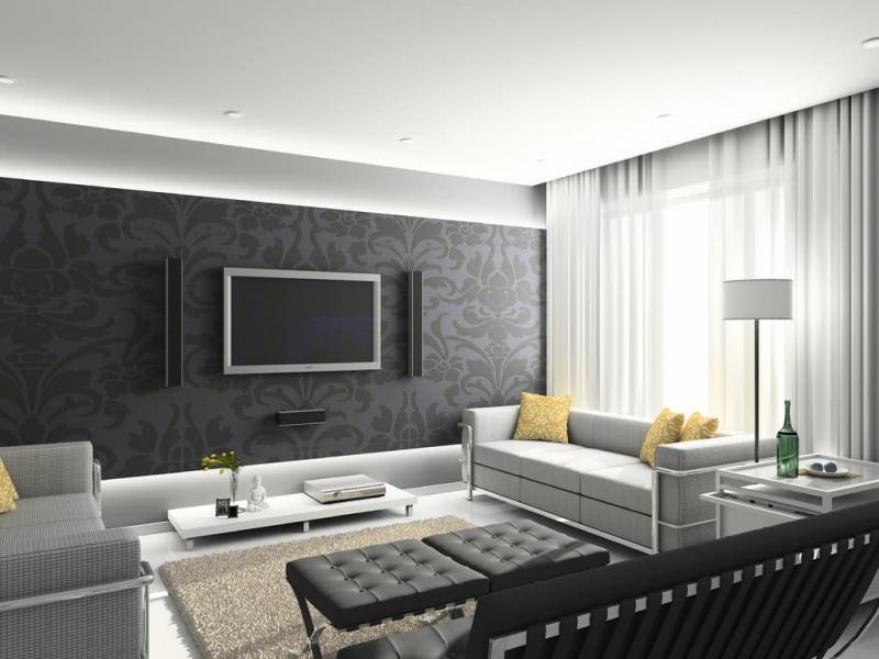 Шторы для гостиной в современном стиле 6