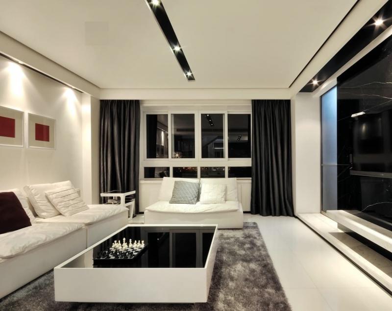 Шторы для гостиной в современном стиле 8