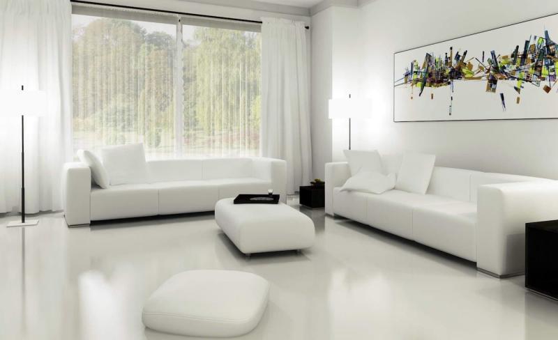 Шторы для гостиной в стиле минимализм 2