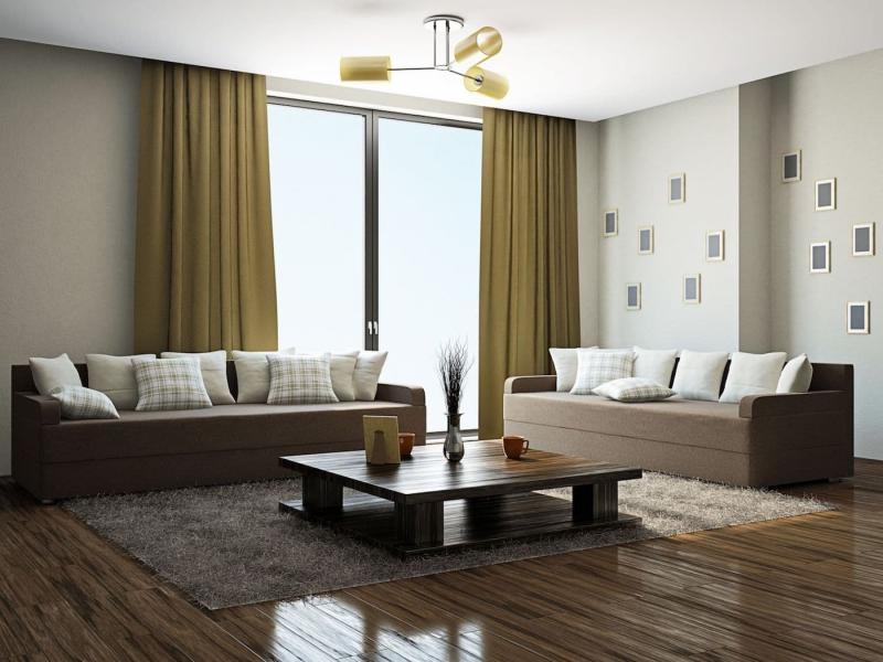 Шторы для гостиной в стиле минимализм 3