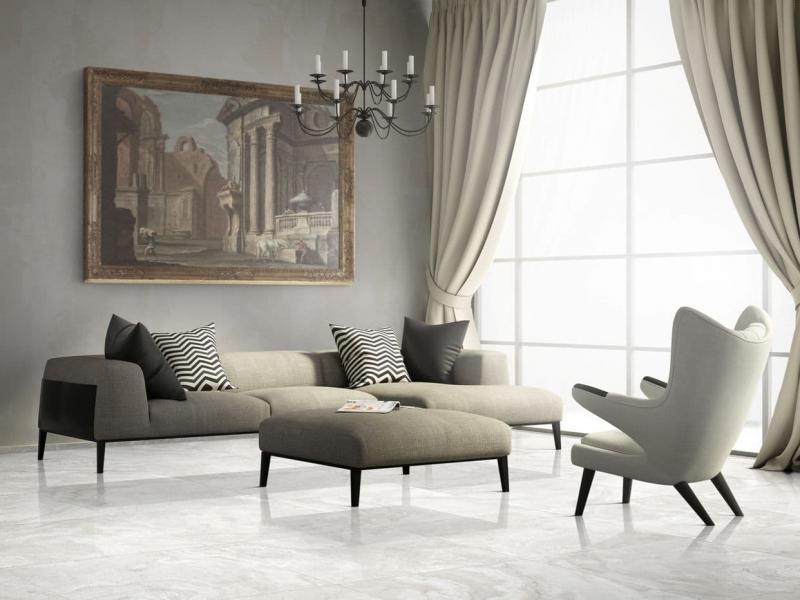 Шторы для гостиной в стиле минимализм 4