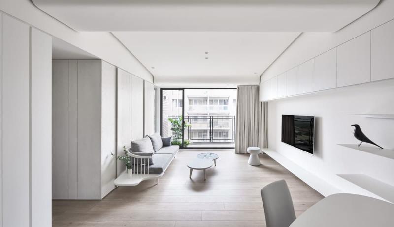 Шторы для гостиной в стиле минимализм 6
