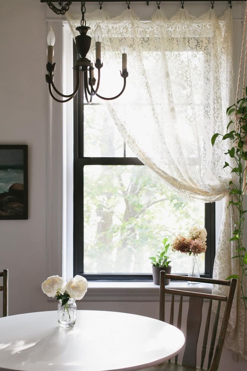 Винтажные шторы в гостиной 2