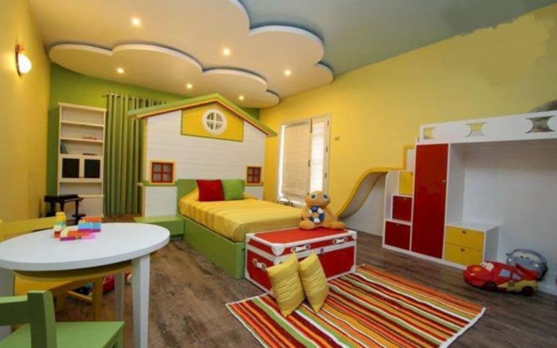 Дизайн потолка из гипсокартона для детской 6