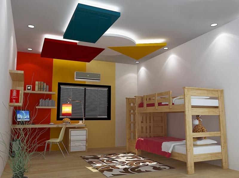 Дизайн потолка из гипсокартона для детской 8