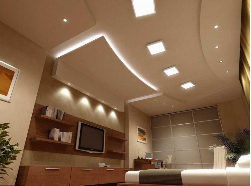 Двухуровневый потолок из гипсокартона 9
