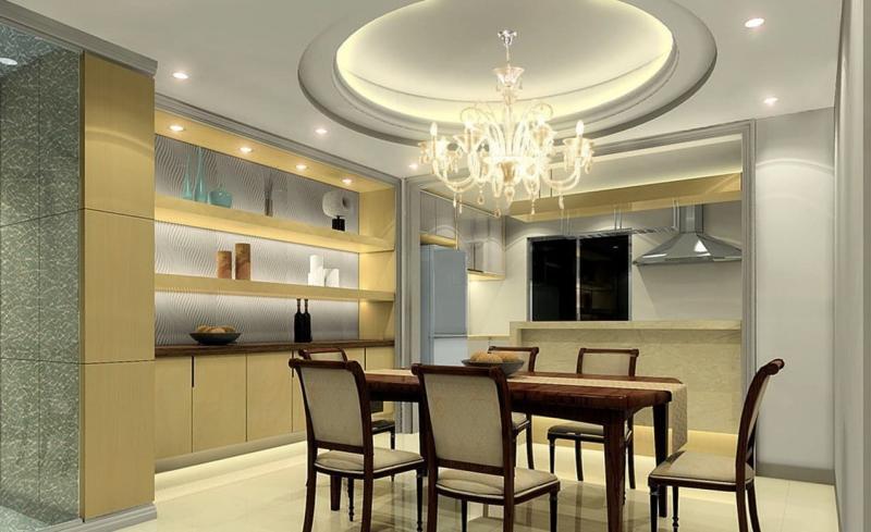 Потолок из гипсокартона для кухни 1
