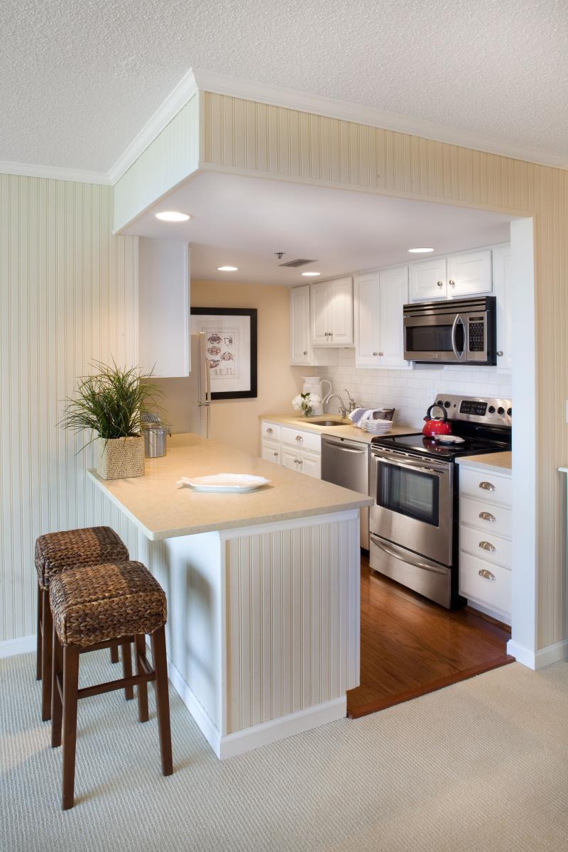Потолок из гипсокартона для маленькой кухни 8