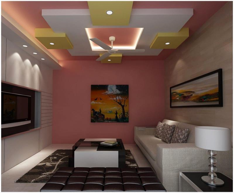 Потолок из гипсокартона для зала в хрущевке 3