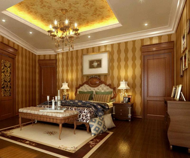 Потолок из гипсокартона в спальне 3