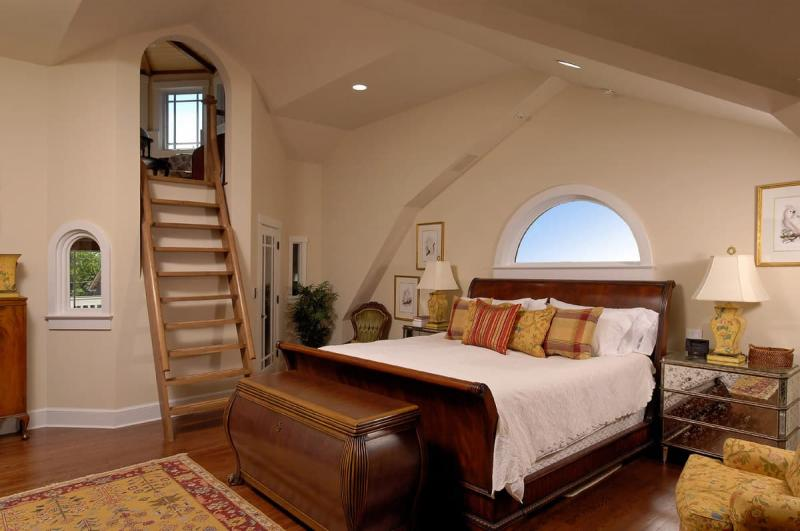 Потолок из гипсокатона для спальни 12-14 м 10