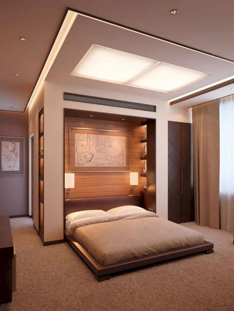 Потолок из гипсокатона для спальни 12-14 м 4