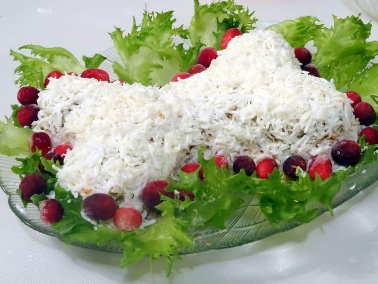 Новогодний салат Косточка