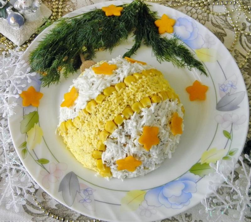 Новогодний салат Праздничный шар.JPG