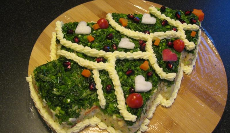 Новогодний салат Ёлка