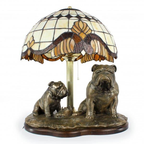 Настольная лампа Бульдоги
