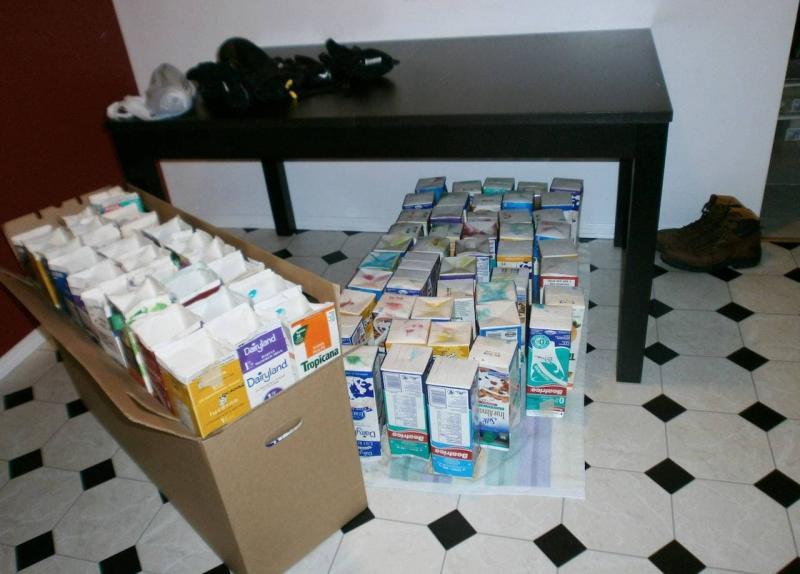 Старыt пакеты из-под молока и сока 2