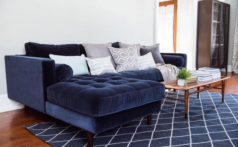 Бархатная обивка мебели 2018 4
